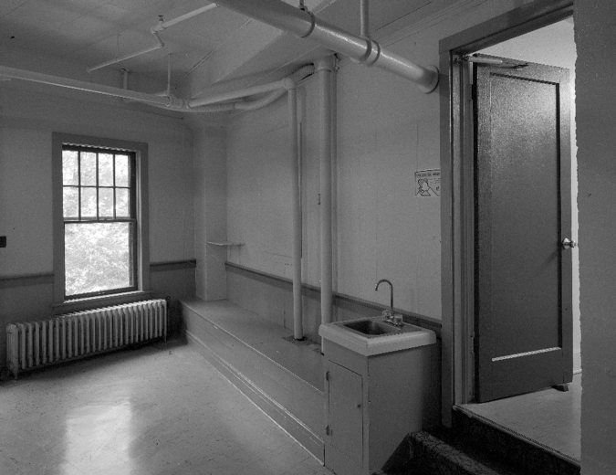 Below the public levels is a vacant staff kitchen and dining room, no longer used for this purpose.